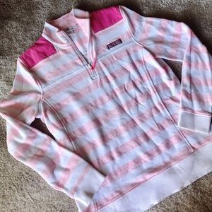pink striped vineyard vines pullover